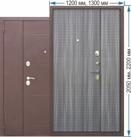 Сейф двери Гарда 75 см 1200*2100