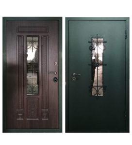 Дверь Поместье лайт стекло и ковка