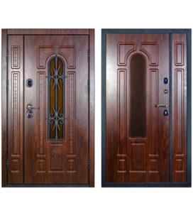 Дверь двустворчатая с терморазрывом и ковкой